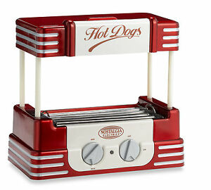 Nostalgia Electrics Retro Series 50 s Hot Dog Roller Grill Hotdog Cooker Machine