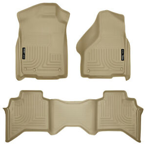 09 17 Ram 1500 Quad extended Cab Tan Weatherbeater 1st 2nd Row Floor Liners