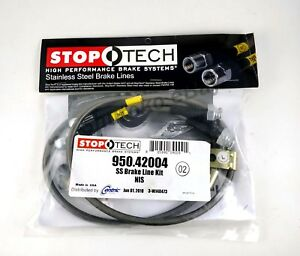 Stoptech Stainless Steel Front Brake Lines For 03 08 Nissan 350z