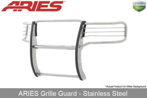 Aries Polished Stainless Steel Grille Brush Guard 1pc 2014 2015 Gmc Sierra 1500