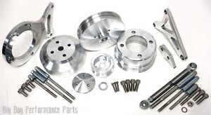 Billet Serpentine Pulley Bracket Set 1984 To1993 Ford 5 0 Fox Body Mustang