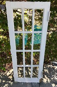 Antique 1920 S Window Frame With Glass 12 Pane Cabinet Mirror Cottage 16 X 42 5