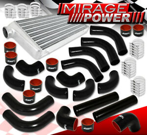 Aluminum Turbo 31 x11 5 x3 Front Mount Intercooler 12pc Custom Piping Pipe Kit