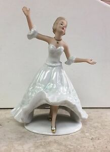 Signed German Wallendorf Figurine Dancer Ballerina 1964 Rosenthal Mint