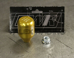 Blackworks Racing 10x1 5 Aluminum 6061 5 Speed Type R Style Shift Knob Gold
