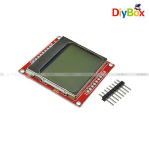 2pcs 84 48 84x48 Lcd Module White Backlight Adapter Pcb For Nokia 5110 Arduino