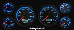 New Vintage Usa Performance Ii White Gauge Set Fits 87 93 Ford Mustang Gt Lx 5
