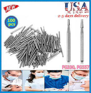 100pcs Tungsten Carbide Burs Fg 557 fg 330 Shipping From Us Best Seller B2