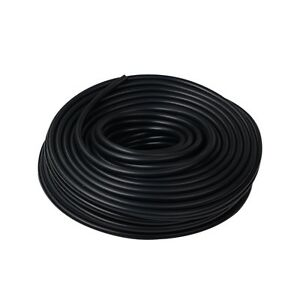 Black 3 8 10mm Vacuum Silicone Hose Intercooler Coupler Pipe Turbo 50 Feet