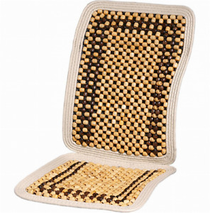 Massage Car Seat Cover Wood Beaded Cushion Roller Chair Deluxe Drive Back New
