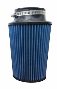 High Performance Conical Air Filter 3 5 Flange 10 Length 6 25 Base Blue Oil
