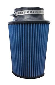 High Performance Conical Air Filter 3 5 Flange 12 Length 6 25 Base Blue Oil