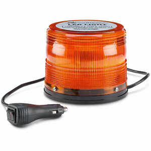 North American Signal 625 Series Led Beacon Light W magnetic Base Amber
