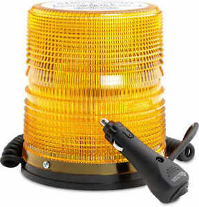 North American Signal 625 Series Amber Strobe Beacon W magnetic Mount