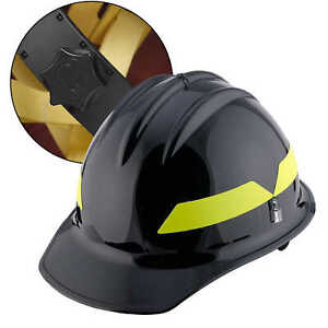 Black Cap Bullard Wildland Fire Helmet With Ratchet Suspension