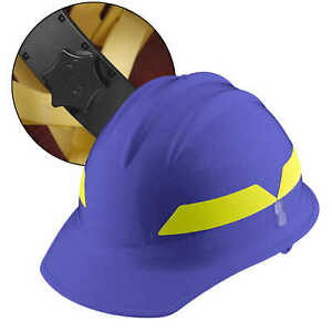 Blue Cap Bullard Wildland Fire Helmet With Ratchet Suspension