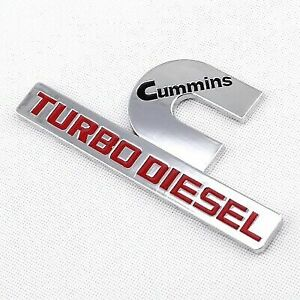 D Ctbs New Cummins Turbo Diesel Dodge Ram1500 2500 Fender Emblem Badge