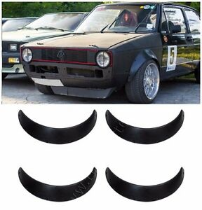 Universal Fender Flares 4 Pcs 90 Mm 3 5 Inches Abs Plastic Shagreen