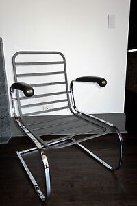 Art Deco Springer Chair Designed By Gilbert Rohde For Troy Sunshade Co