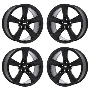20 Chevrolet Camaro Rs Black Wheels Rims Factory Oem 2018 Set 4 5760 Exchange