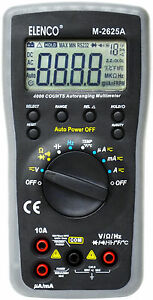 New M 2625a Digital Multimeter 3 1 2 Digit With Temp W Leads Manual More