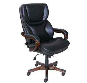 Serta Home Big Tall Executive Office Chair Bonded Leather Furniture In Black
