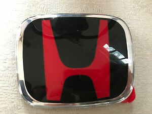 H 113br New H Red Black Jdm Emblem Badge Fit Jazz Ge8 Civic Fd B G Grille Honda