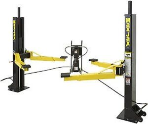 Two Post Auto Lift 100 Portable 6000 Lb Max Jax 2 Post Roll Around Lift