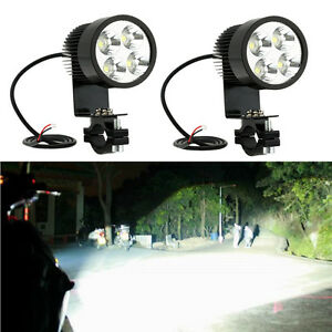 2x 4led 12 24v Car Work Light Driving Spotlight Ip65 For Auto Motorcycle Clamp