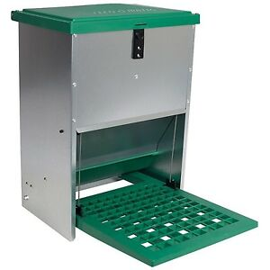 Automatic Treadle Feeder For Chickens And Other Poultry 6 8 Hens 26 5 Po