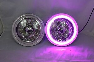 7 Round 6014 6015 6024 Purple Led Smd Halo Headlights Replacement