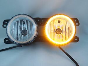 07 16 Jeep Wrangler Bumper Fog Lights Bulbs Smd Halos Amber Harness