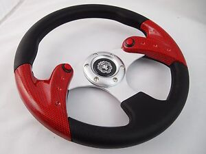 Club Car Precedent Carbon 12 5 Steering Wheel Golf Cart With Adapter 3 Spoke
