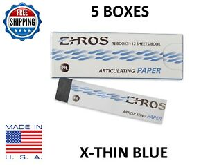 5 Boxes Dental Articulating Paper extra X thin Blue 780 Sheets Made In Usa