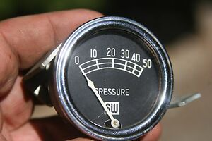 Vintage Stewart Warner 2 Big Logo Large Block Oil Pressure Gauge