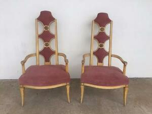 Pair Of Mid Century Pair Of Adrian Pearsall Style High Back Lounge Unique Chairs