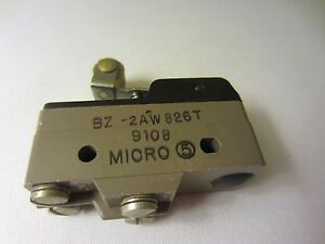 Honeywell Micro Switch Bz 2aw826t 9108 Snap Action Roller Lever Limit Switch