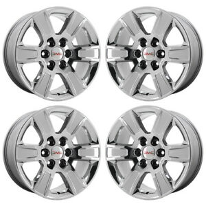 20 Gmc Sierra Yukon 1500 Truck Pvd Chrome Wheels Rims Factory Oem 5650 Exchange