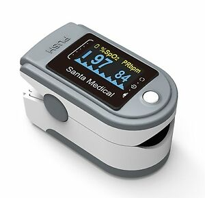 Fingertip Pulse Oximeter Sm 165 Blood Oxygen Saturation Monitor Compact W Case