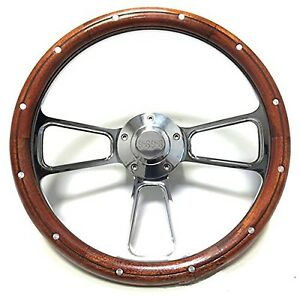 1969 73 Chevelle Ss 1969 Up El Camino Wood Chrome Steering Wheel Full Kit