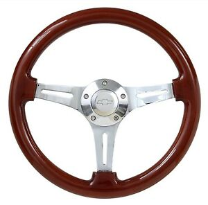 Real Wood 14 Steering Wheel Adapter For 1969 1994 Gm Cars