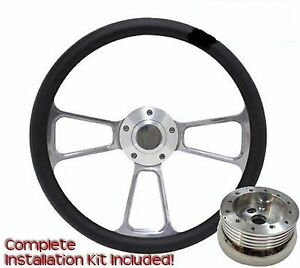 New World Motoring Billet Steering Wheel 1970 To 1987 Mopar Dodge Plymouth 14