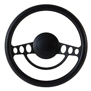 New Hot Rod Street Rod Rat Rod W Ididit Gm Column Black Steering Wheel Kit
