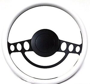 New Hot Rod Street Rod Rat Rod W Ididit Or Gm Column White Steering Wheel Kit