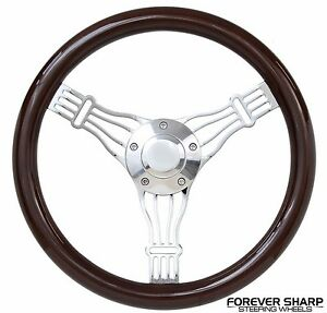 14 Dark Wood Banjo Discord Ezgo Golf Cart Gem Par Car Star Steering Wheel Set