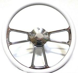White And Chrome Steering Wheel Install Kit For Gm And Gm Style Columns