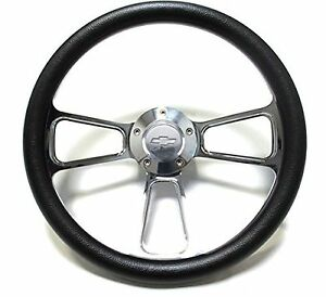 Steering Wheel 14 Billet Muscle Style Wheel For Ididit Flaming River Columns