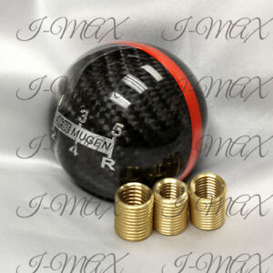 Mugen Real Carbon Fiber Shift Knob 5 Speed For Honda Cr Z Civic Accord S2000 Fa5