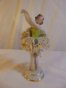 Ballerina Figurine Signed Germany