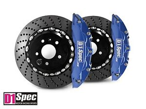 D1 Spec Front Rs Big Brake 6pot Caliper Blue 355x32 Drill Disc For A4 B8
